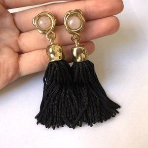 bimba y lola morganite tassel earrings